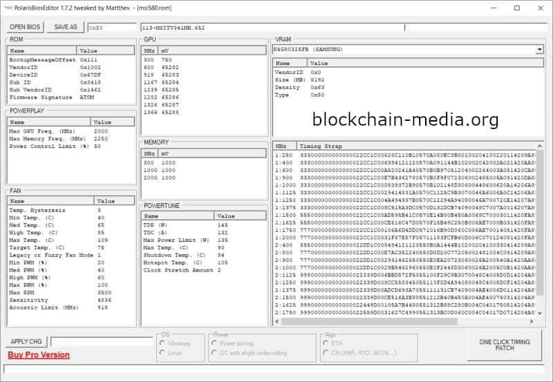 Polaris BIOS Editor 1.7.2