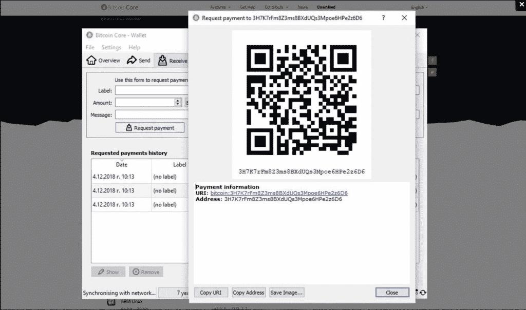 Bitcoin Core QR