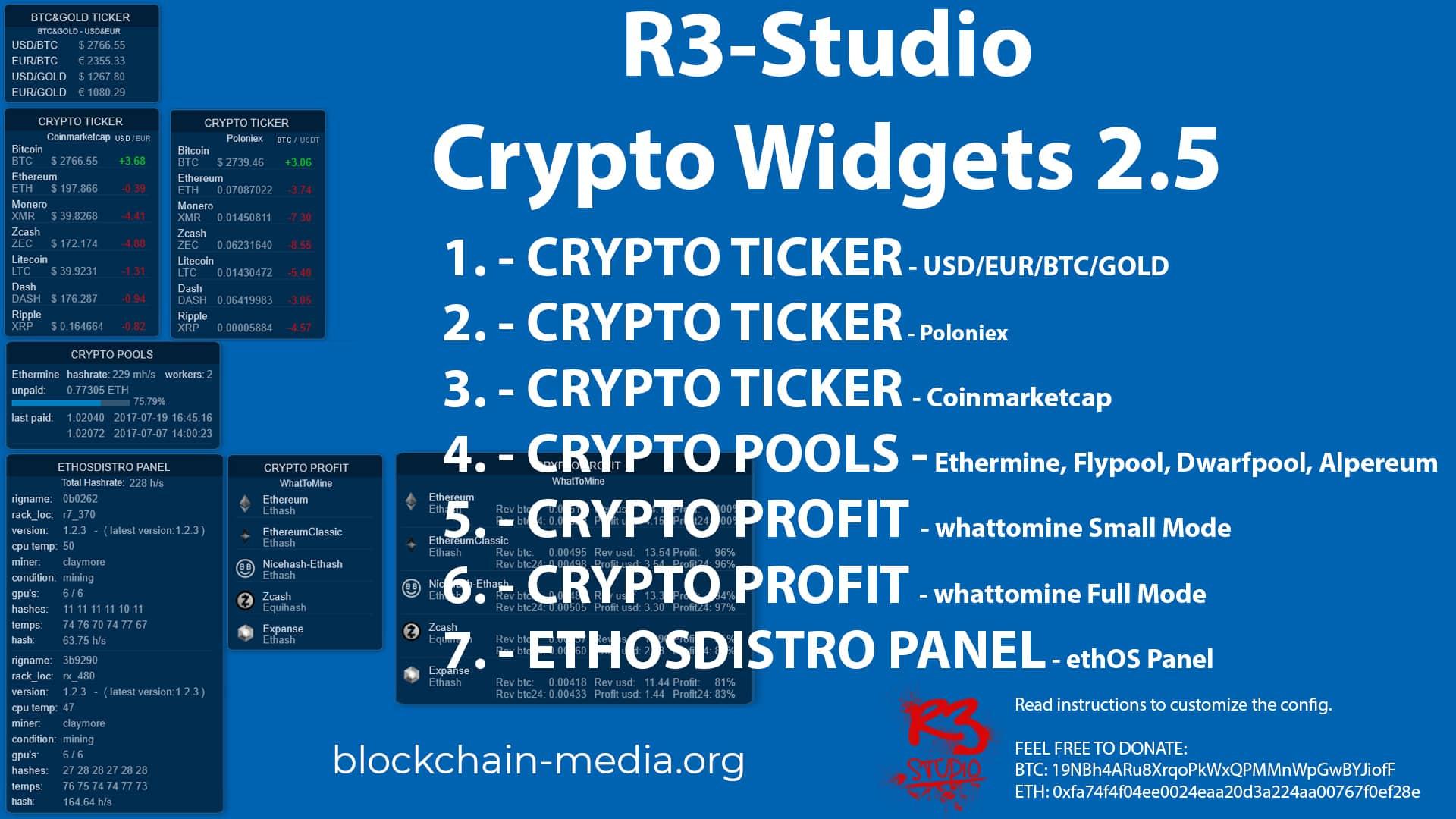rainmeter-cryptocurrency виджет криптовалют